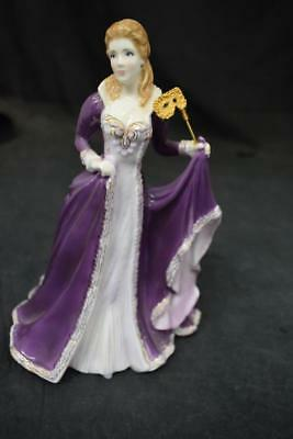 Royal Worcester Masked Ball Figurine Glittering Occasions
