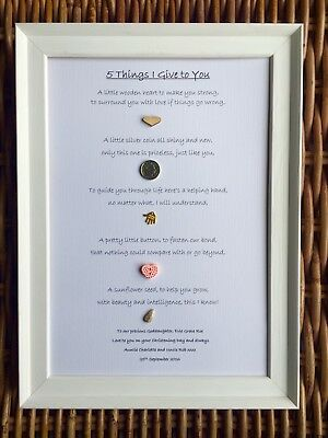 PERSONALISED A4 Print For Girl's BAPTISM CHRISTENING Ideal Gift From GODPARENTS
