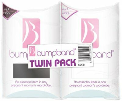 Bumpband Twinpack Black and White, Band Size 2, Dress Size 14-18 Pre-pregnancy -