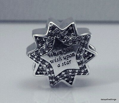 New/tags Authentic Pandora Disney Charm When You Wish Upon A Star #797490Nbl Box