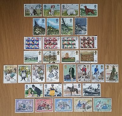 Complete GB commemorative postage stamp issues of 1979 (used)