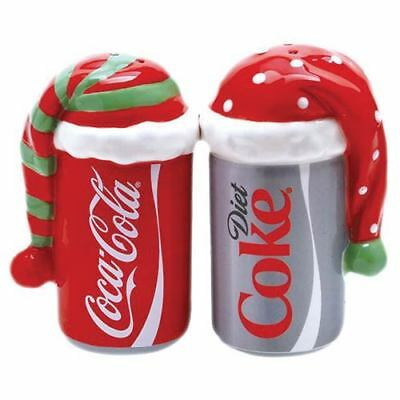 Coca-Cola Cans Bundled Up Salt and Pepper Shakers-New in Box
