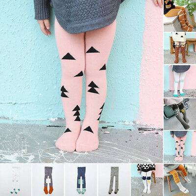 Cute Baby Toddler Kids Girl Boy Cotton Tights Stockings Pantyhose Pants Trousers