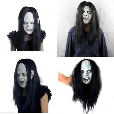 AOBOR Halloween Horror Grimace Ghost Mask Scary Zombie Emulsion Skin with Hair