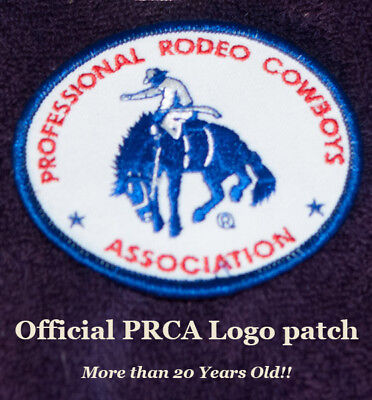 "Official ""PRCA"" Logo, Embroidered Hat Patch - Classic Collectible-rodeo-NEW   A"