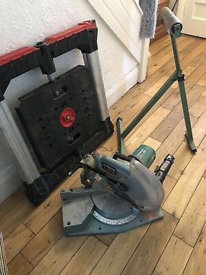 Hitachi 110v Chop Saw With Stand And Roller