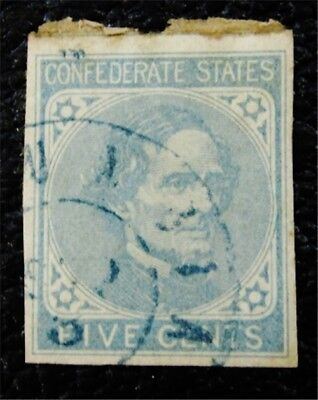 nystamps US CSA Confederate Stamp # 6 Used $28