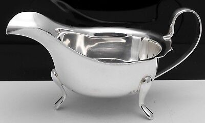 Vintage Silver Plated Gravy / Sauce Boat - Viners Of Sheffield