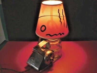 Vintage Steampunk Industrial Hudson Electric Paint Sprayer Table Lamp & Shade