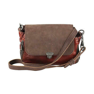 8aadb52ac147 Authentic Liebeskind Berlin Brown Leather Crossbody Bag Messenger Zip Detail
