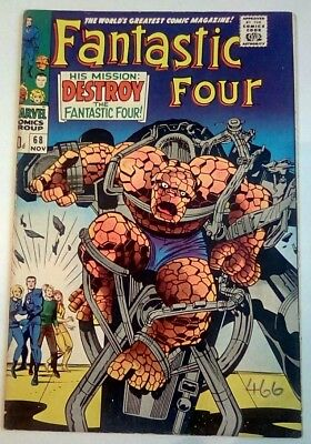 Fantastic Four No. 68 Dated November 1967. Very Good Condition. Kirby Art.