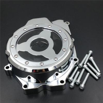 Left Engine Stator Cover see through For 2006-2014 2012 Yamaha R6 YZFR6 Chrome