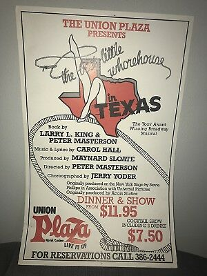Union Plaza Presents The Best Little Whorehouse In Texas Musical Poster Vegas