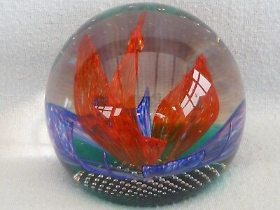 """Caithness Limited Edition Glass Paperweight """"buccaneer"""" Boxed---191 Of 750"""