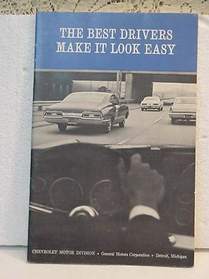 "1968 Chevrolet/General Motors--""Best Drivers Make it Look Easy"" Original Booklet"