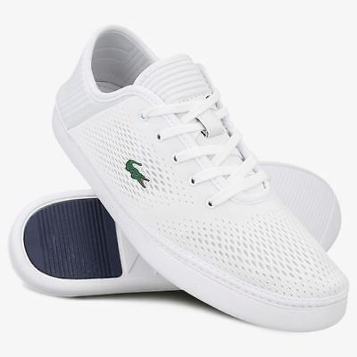 f7b64c0d2ea8f LACOSTE MENS TRAINERS Grey   White L.YDRO Lace 118 1 Sport Casual ...