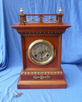 Antique Junghans Striking Mantle Clock - Serviced and Working order