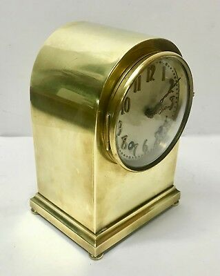 Antique Clock-SETH THOMAS Solid Brass Beehive Clock-R KAISER Movement-BEAUTIFUL!