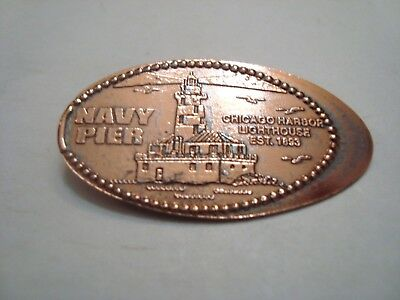 NAVY PIER - Chicago Harbor Lighthouse -- elongated zinc penny