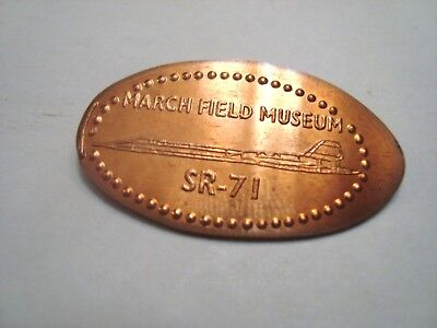 MARCH FIELD MUSEUM Riverside, CA SR-71 -- elongated copper penny