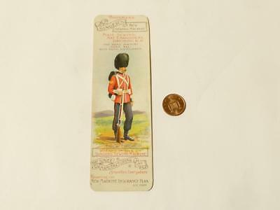 Antique Bookmark Advertising Singer Sewing Machine Embroidery Gren Guards *