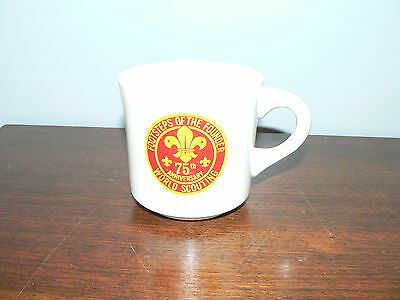 Vintage Boy Scouts Footsteps of Founder 75th Anniversary Commemorative Mug~BSA
