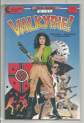 VALKYRIE * COMPLETE 3 ISSUE MINI-SERIES * PAUL GULACY art * ECLIPSE COMICS