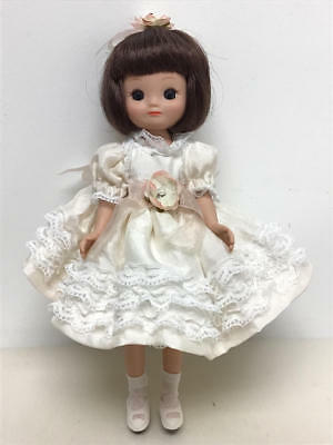 ROBERT TONNER 50TH ANNIVERSARY BETSY MCCALL in white dress w/lace ruffles