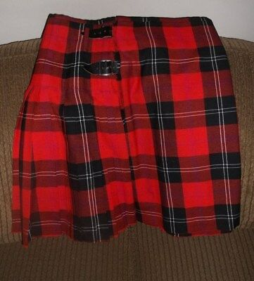 Red Plaid Kilt  Made in Scotland By Kirk Wynd