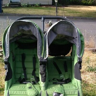 Baby Jogger City Mini GT Double Twin All Terrain Stroller Green used
