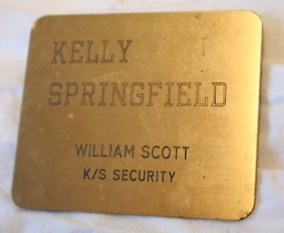 Kelly Springfield Tire Co. Security Badge with Name Cumberland, MD Plant