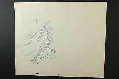 LOT of FIVE 1990s ANIMATION PRODUCTION ART of WINGED MONSTER~