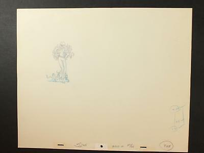 LOT of 12 1990s MISC. ANIMATION PRODUCTION ART of LONG HAIRED WOMAN~