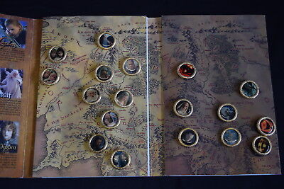 2003 PIN COLLECTION 18 Lord of the Rings FULL SET Collector Album Return of King