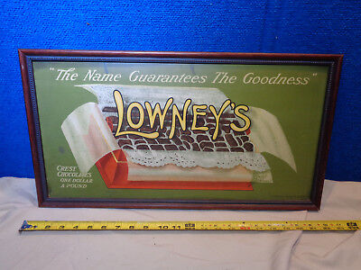 Vintage Candy Advertising Sign **lowneys Chocolate**