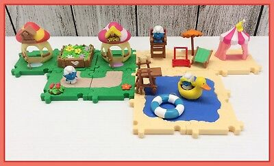 2013 Jakks Pacific Peyo Smurfs Village Micro Playset Puzzle 20 Loose Pieces