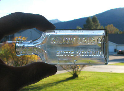 2 oz. as is SCARCE old BUTTE, MONTANA / GALAXY DRUG CO medicine pharmacy bottle