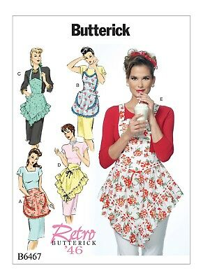 B6467 SEWING PATTERN Vintage Styles 1940's 1950's Misses' Full Half Aprons 1946