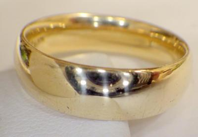 14K Solid Yellow GOLD Plain 6.23mm BAND 8.511 Grams Ring Size 10 - 1/4 Hallmark