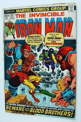 1972 Iron Man Issue #55 Comic Book Complete Fair Condition