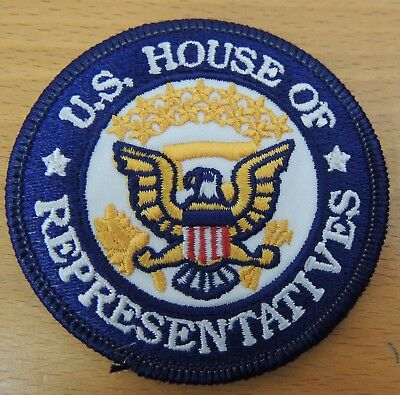 US House of Representatives Round Patch Blue White