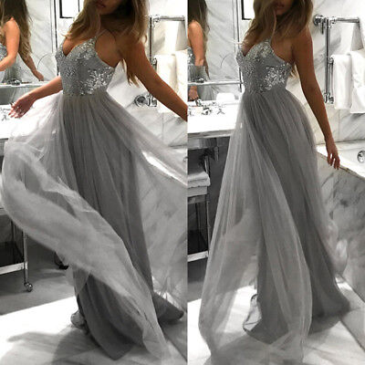 Women Wedding Bridesmaid Long Evening Party Ball Prom, Gown Cocktail Dress