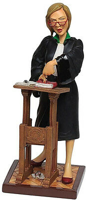 The Lady Lawyer Sculpture by Guillermo Forchino ~ Hand Made Detailed & Painted