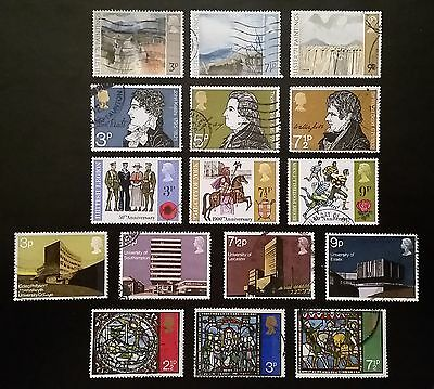 Complete British commemorative postage stamp set issues for 1971 (used)