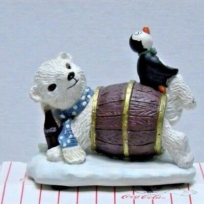 "Coca Cola Polar Bear Cubs ""It's My Turn to Hide"" Figurine 1995"