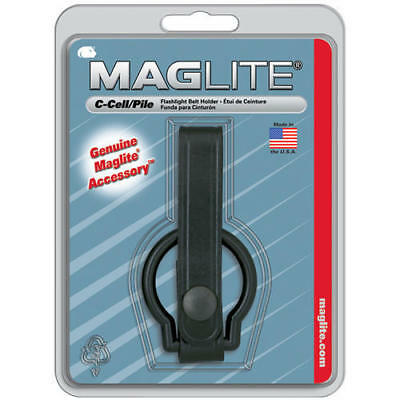 Maglite ASXC046 Black Plain Leather Belt Holder For C Cell Flashlight