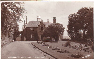 Postcard - The Priory from South-West, Llandogo, Monmouthshire, posted in 1939.