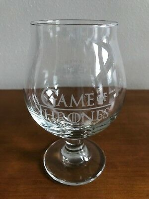 Game Of Thrones Ommegang Brewery Cooperstown NY Stemmed Beer Glass Goblet
