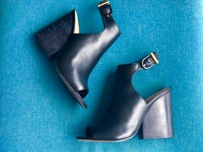 b524bc3e26af NIB TORY BURCH Grove 100MM Royal Tan Leather Ankle Boot Bootie  495 ...