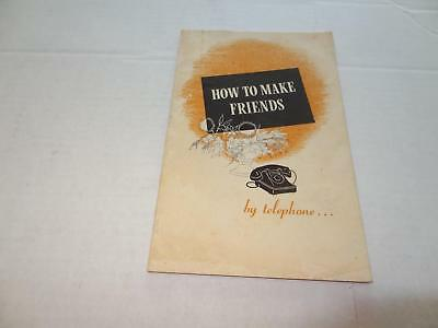 1950 How To Make Friends by Telephone, Southwestern Bell Telephone Company